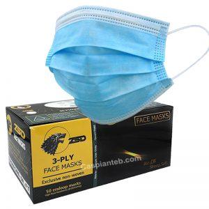 ماسک سه لایه آبی زبردست(50 تایی)