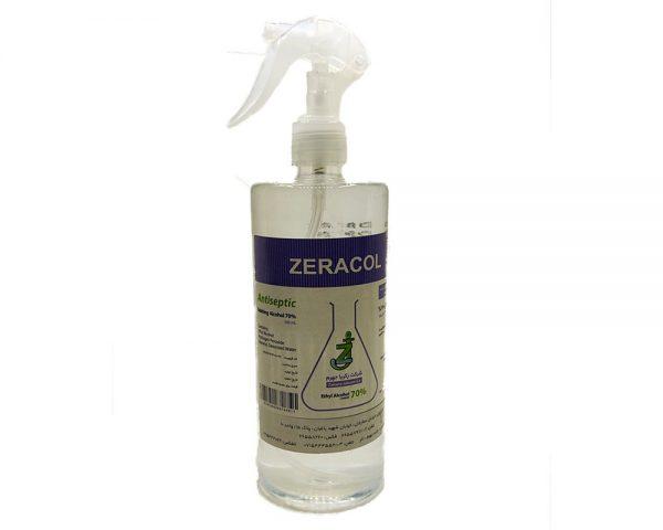 محلول ضدعفونی دست و پوست ZERACOL-500cc