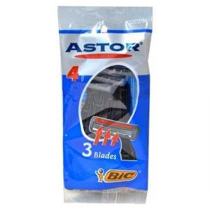 تیغ اصلاح بیک مدل Astor سه لبه آبی