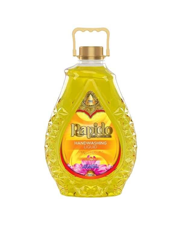 مایع دستشویی لوکس ۳لیتری زرد Rapido