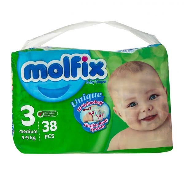 پوشک بچه مولفیکس سایز ۳