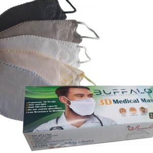 ماسک سه بعدی5لایه بوفالو بسته25تایی