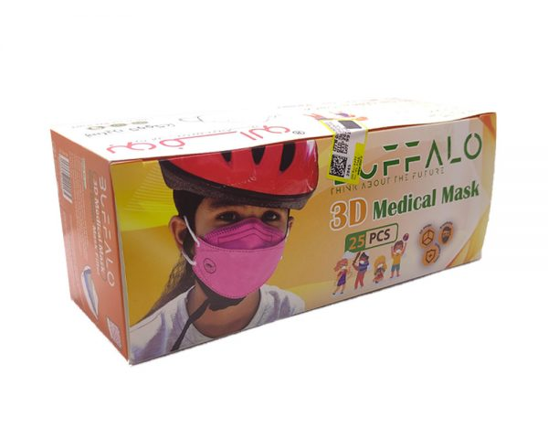 ماسک سه بعدی کودک بوفالو 4لایه