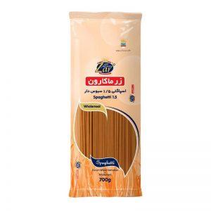 اسپاگتی سبوس دار قطر1.5 زر ماکارون(700 گرمی)