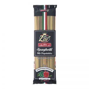 اسپاگتی قطر 1.5مخلوط سبزیجات زر ماکارون(500 گرمی)