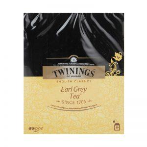 چای سیاه کیسه ای توینینگز مدل Earl Grey( 50عددی)